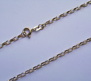 24 inch 9ct Gold 2.65mm thick Reinforced Lightweight Diamond cut Belcher chain